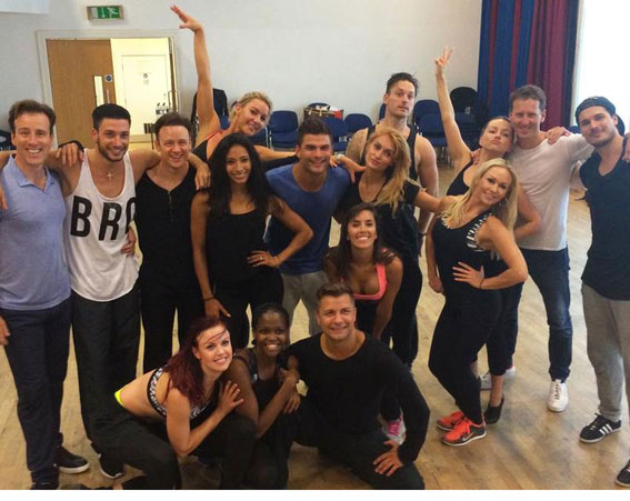 All the professionals posed together [BBC Strictly/Twitter]