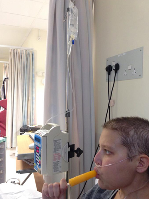 You're given lollies during chemo to take away the horrible taste it leaves in your mouth [OK]