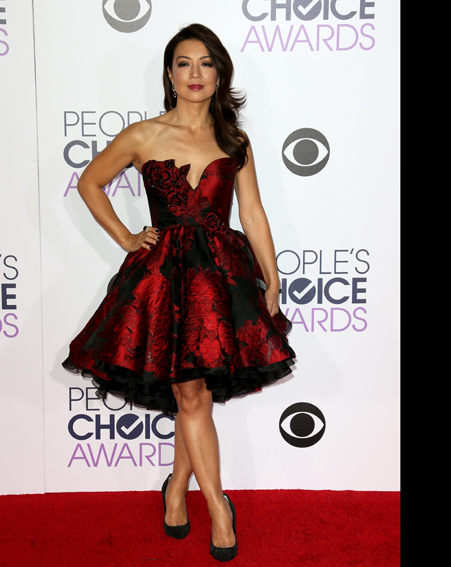 Ming-Na Wen  looks red hot [Getty]