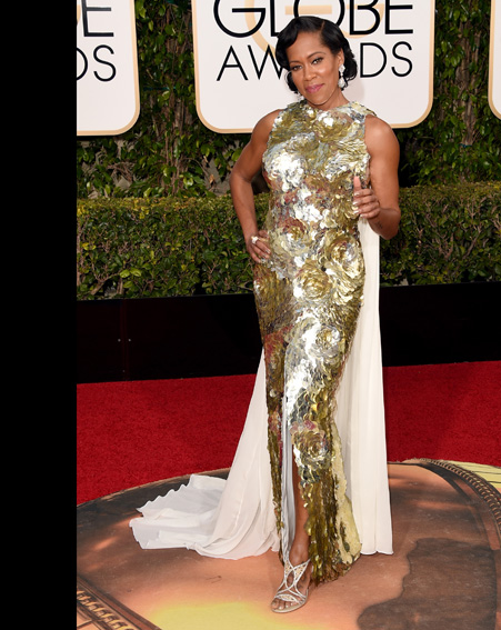 Regina King is a vision of beauty in gold [Getty]