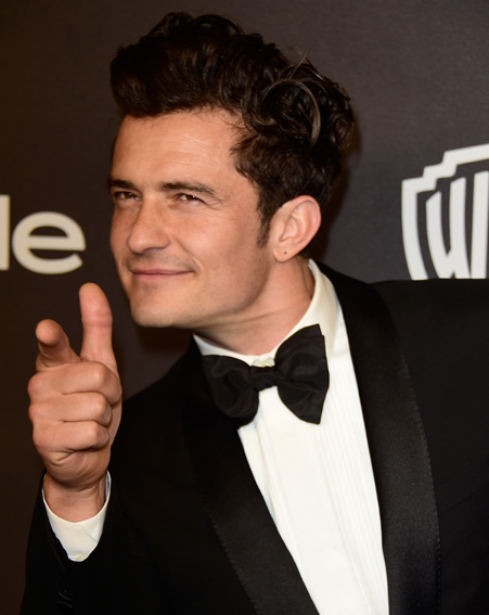 Orlando Bloom looks ready to party [Getty]