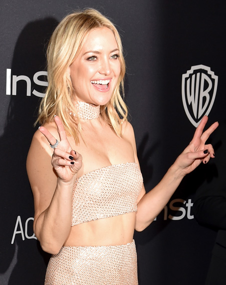 Kate Hudson's not ready for the night to end [Getty]