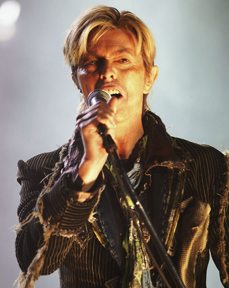 David Bowie performs at Isle of Wight festival in 2004 [Getty]