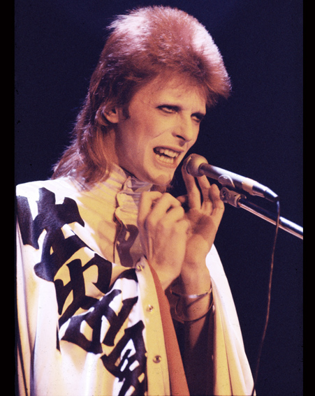 David Bowie performs in London in 1973 [Getty]