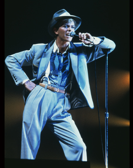David Bowie performs at Serious Moonlight World Tour in 1983 [Getty]