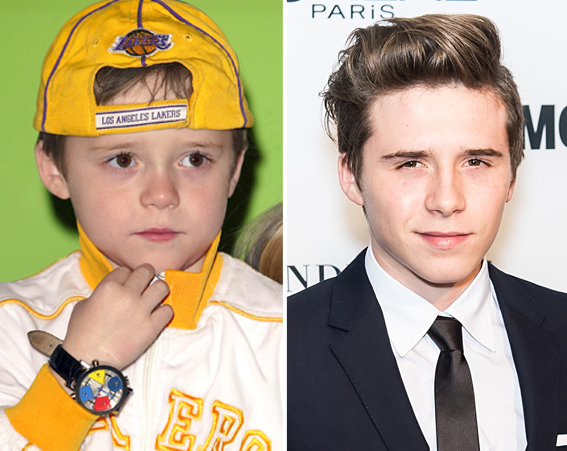 The eldest Beckham son, Brooklyn, is often pictured at showbiz events these days [Getty]
