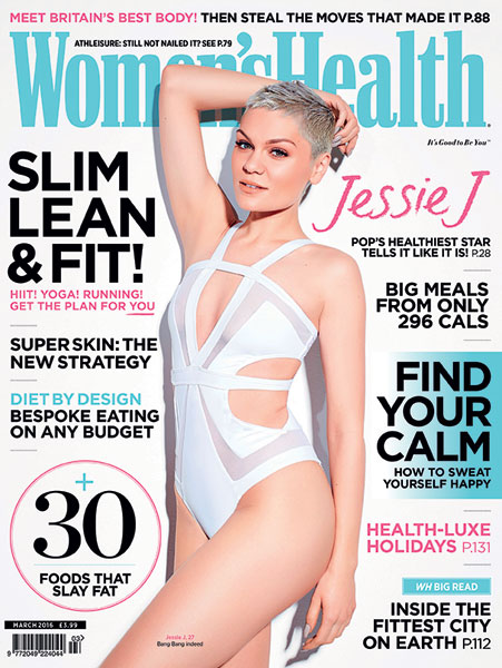 Jessie J looked incredible on the front cover of Women's Health [Women's Health/Zoe McConnell]