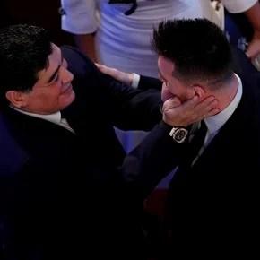 """Maradona sobre Messi: """"Es un niño bueno y el mejor futbolista"""""""