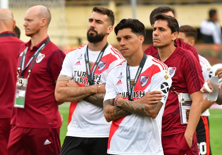 Enzo es uno de los futbolistas que más sintió el golpe de la derrota en Lima, ante Flamengo (Marcelo Carroll).
