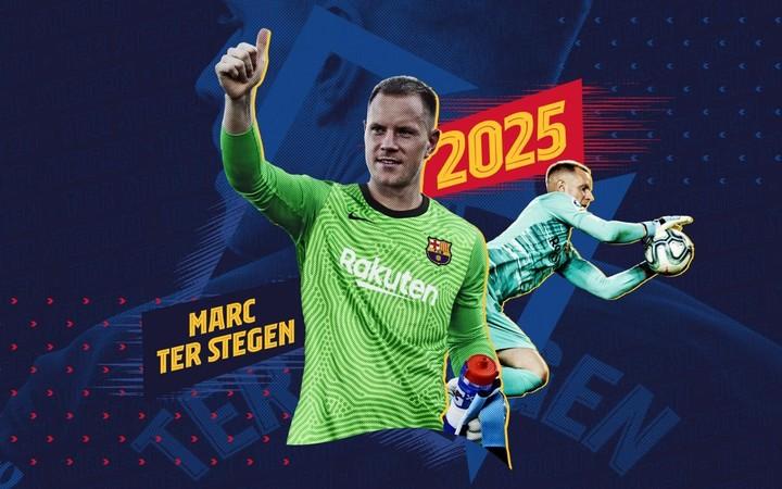 Barsa renewed Ter Stegen.  (@FCBarcelona_es)