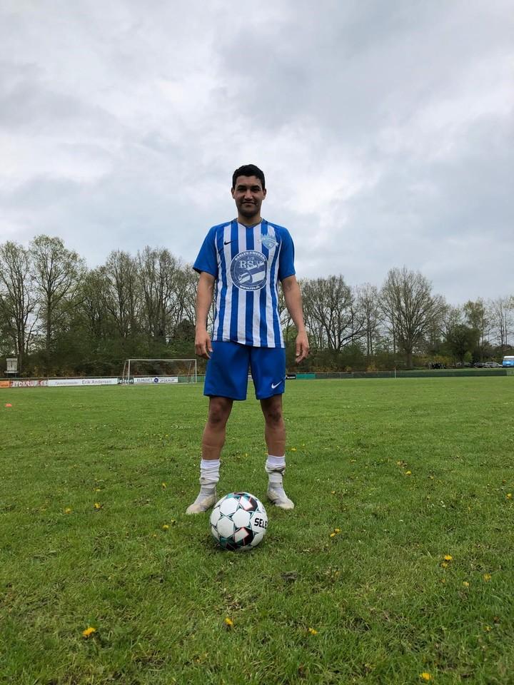 Nicolás Lezcano, jugador del FC Kalundborg de Dinamarca.