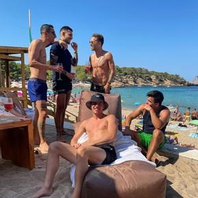Los campeones de la Copa América juntos de vacaciones
