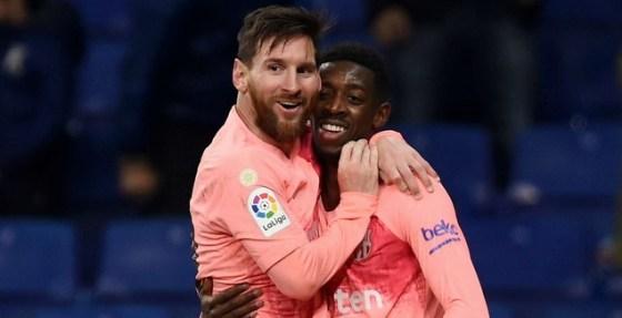 Osman Dembele with Leo Messi (Facebook)