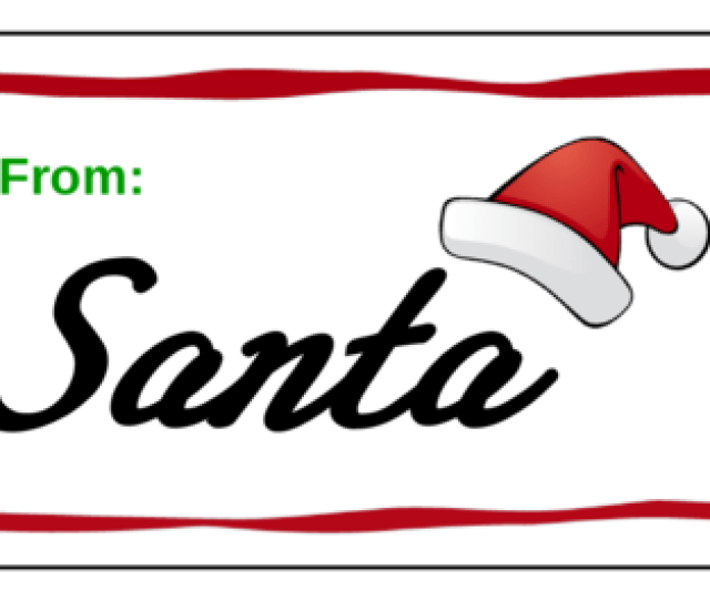 Santa Gift Presents Label Label Templates Ol Onlinelabels Com