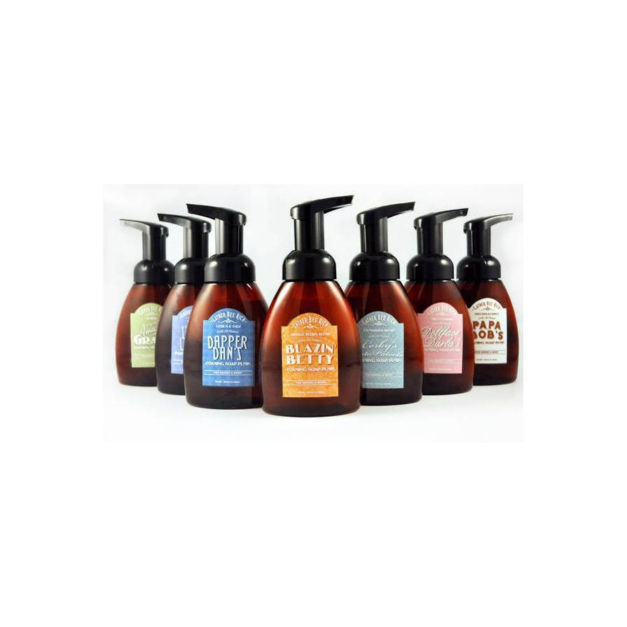 Lather Bee Rich Foaming Soap Pump Bottle Labels Customer