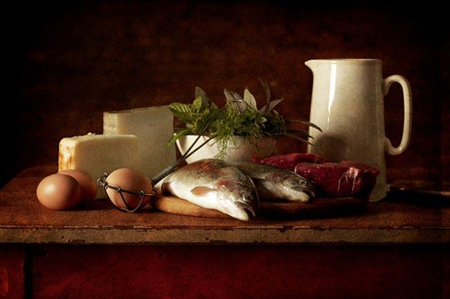 चीज़, मीट और मछली