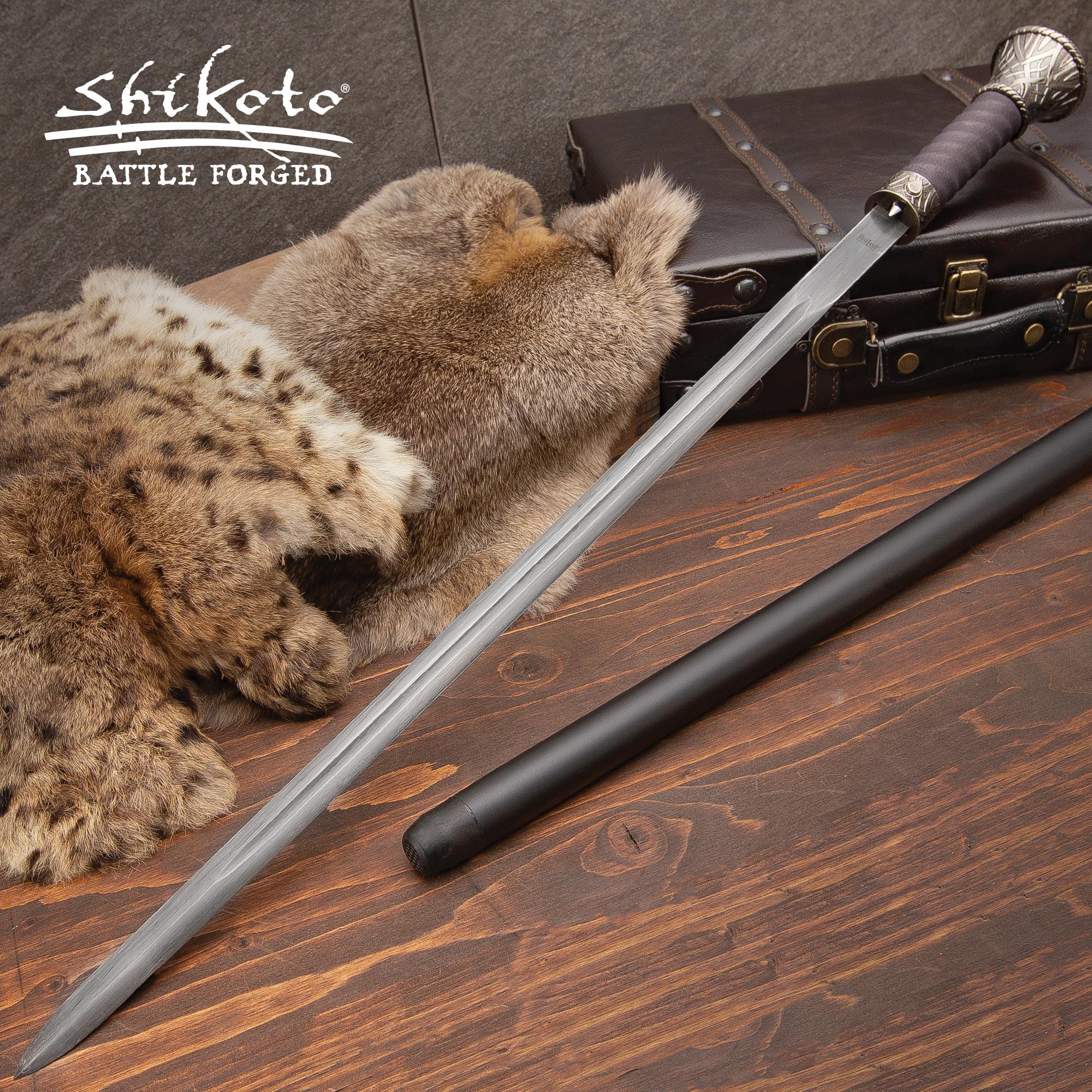 United Fantasy Sword Cane Damascus Knives