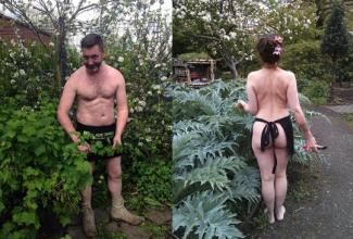 Image result for World Naked Gardening Day