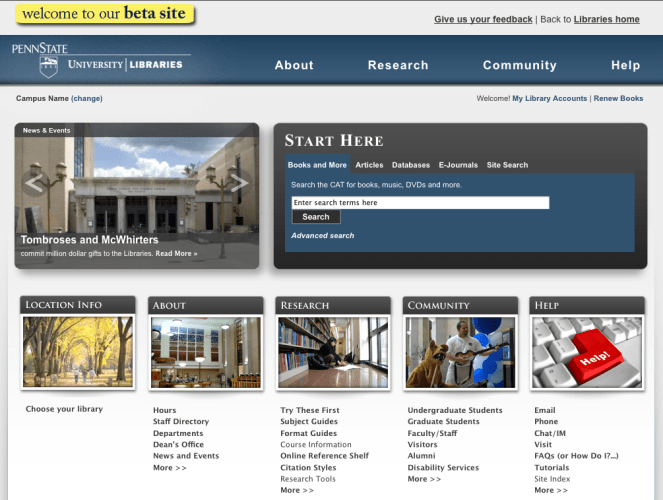 University Libraries Website Redesign