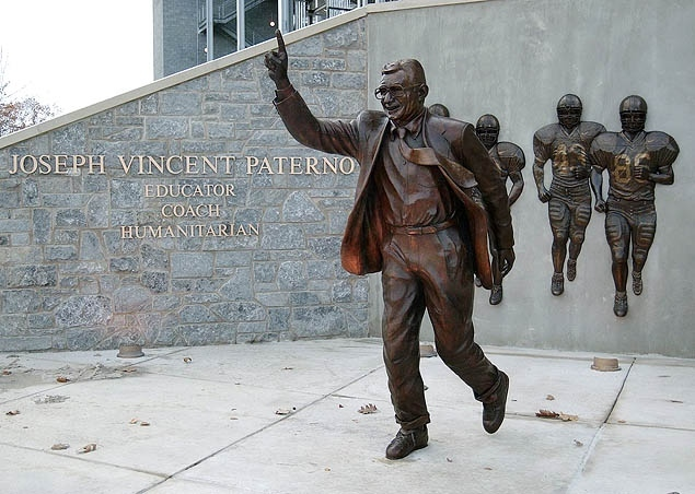 Image result for joe paterno statue