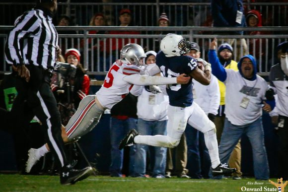 Miles Sanders, Penn State run over IL , win 63-24