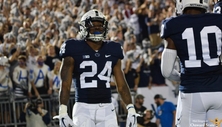 finest selection 8a188 59e4c Miles Sanders To Wear No. 8 Against Ohio State In Honor Of ...