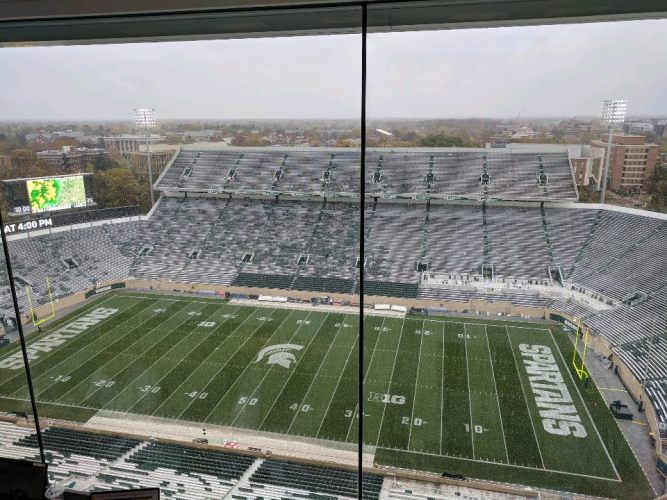 Penn State-Michigan State On Weather Delay In East Lansing