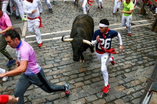 Make Me Like Saquon: Barkley Jersey Appears At Running Of The Bulls