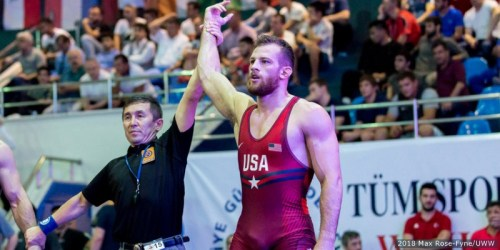 Penn State Legend David Taylor Hits Wrestling World Championship Mat For First Time
