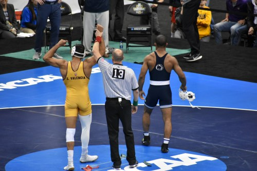 Zahid Valencia Taunts Mark Hall With His Own Celebrations At NCAA Championships