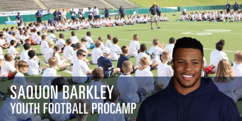 sports shoes 40fab c7a1c Saquon Barkley To Host Youth Football ProCamp At Penn State ...