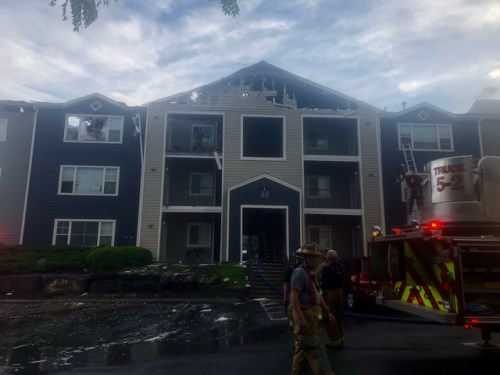 Fire Damages Student Apartment Building