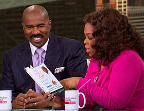 Steve Harvey and Oprah