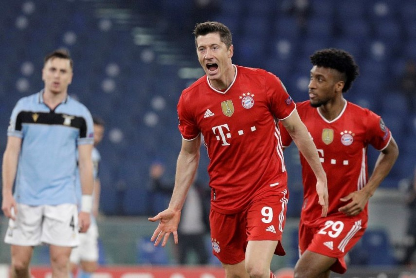 Lazio 1-4 Bayern Munich: Robert Lewandowski Sets Holders On Way To Emphatic  First-leg Victory