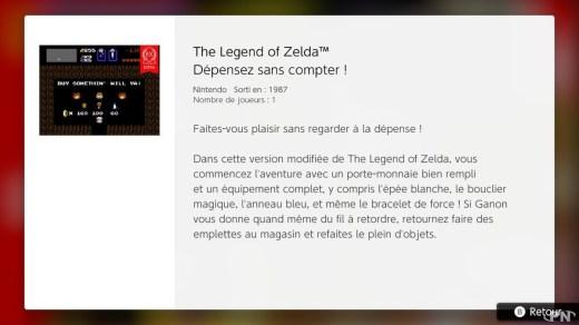Descriptif The legend of Zelda Extra Nintendo Switch Online