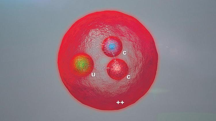 """El gran colisionador de hadrones del Centro Europeo de Física de Partículas (CERN) permitió observar una partícula con dos quarks pesados, los """"c""""."""