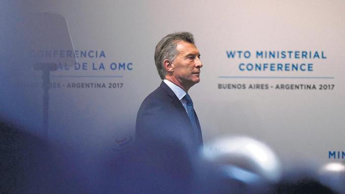"""""""Los problemas de la OMC se resuelven con más OMC, no con menos OMC"""", aseguró Macri."""