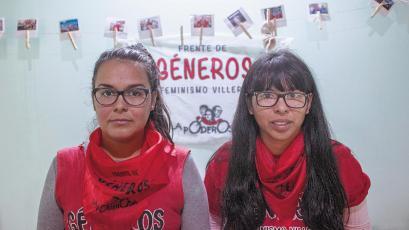 Jésica Azcurreire –villa Zabaleta– y Joana Ybarrola –Villa 31–, constructoras, junto con otras compañeras, de un feminismo villero que maneja sus propios tiempos de debate y consenso.