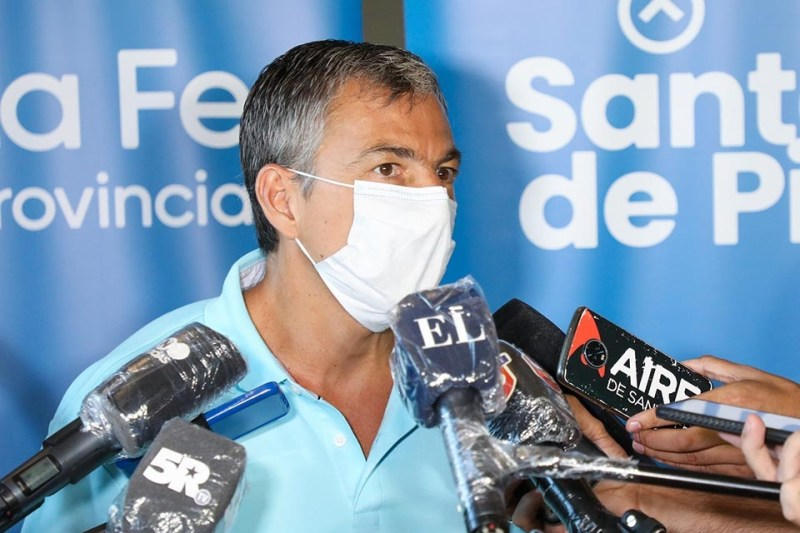 Ministro de Trabajo de la provincia Juan Manuel Pusineri.