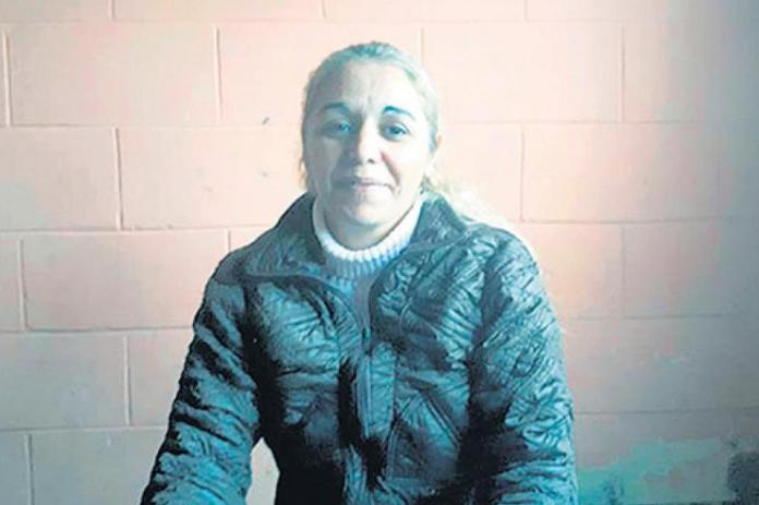 Marcela Mendoza, en prisión, al momento de ser condenada.