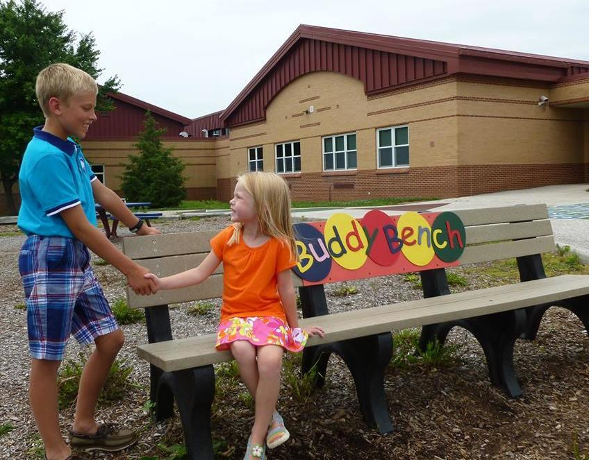 Boy Creates Buddy Benches To Keep Kids From Feeling