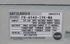 Mitsubishi, FRA54015KNA, A500 Inverter Motor Drive VFD