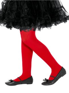 Red Tights - Child 7-10yrs