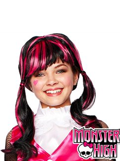 Child's Monster High Draculaura Wig