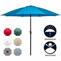 blue and white sunnyglade 9ft patio umbrella replacement canopy market umbrella top outdoor umbrella canopy with
