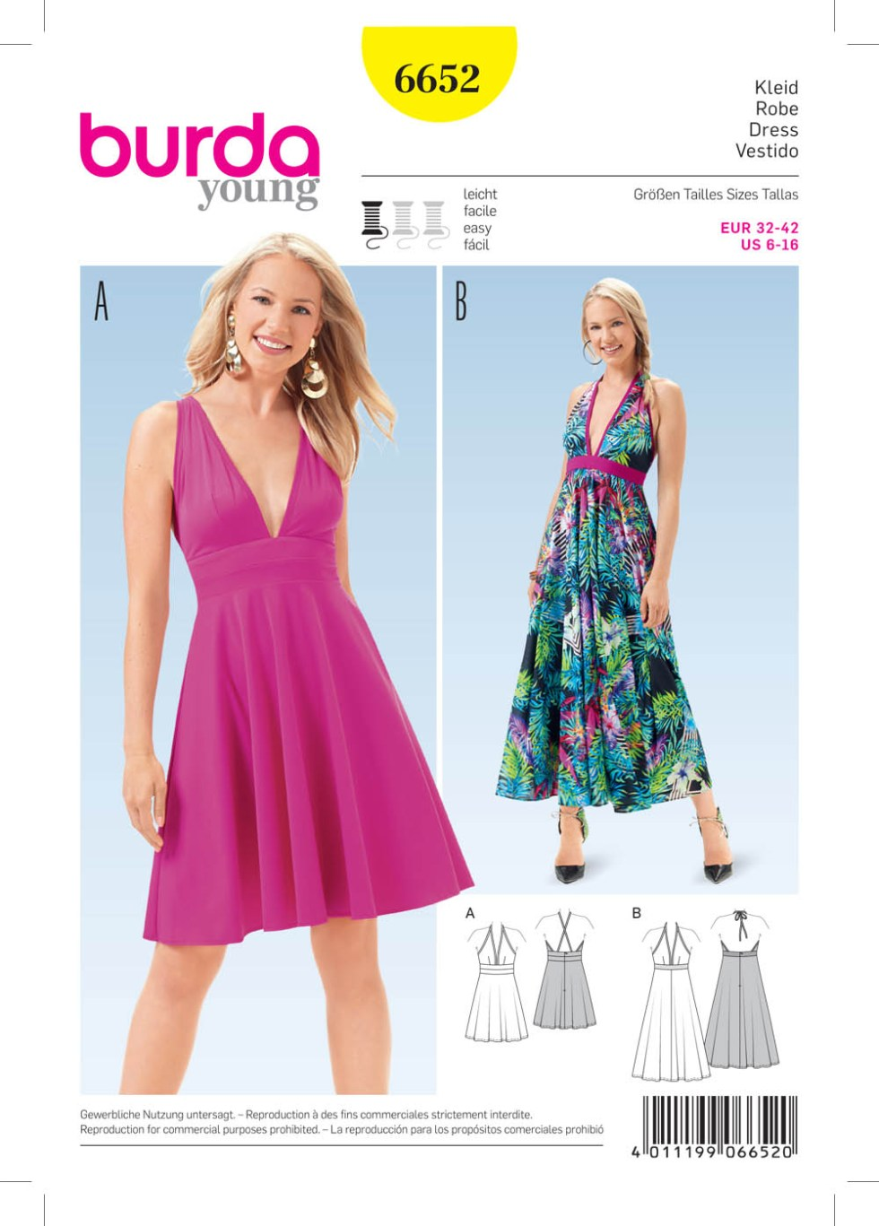 Burda 6652 Misses' Dress