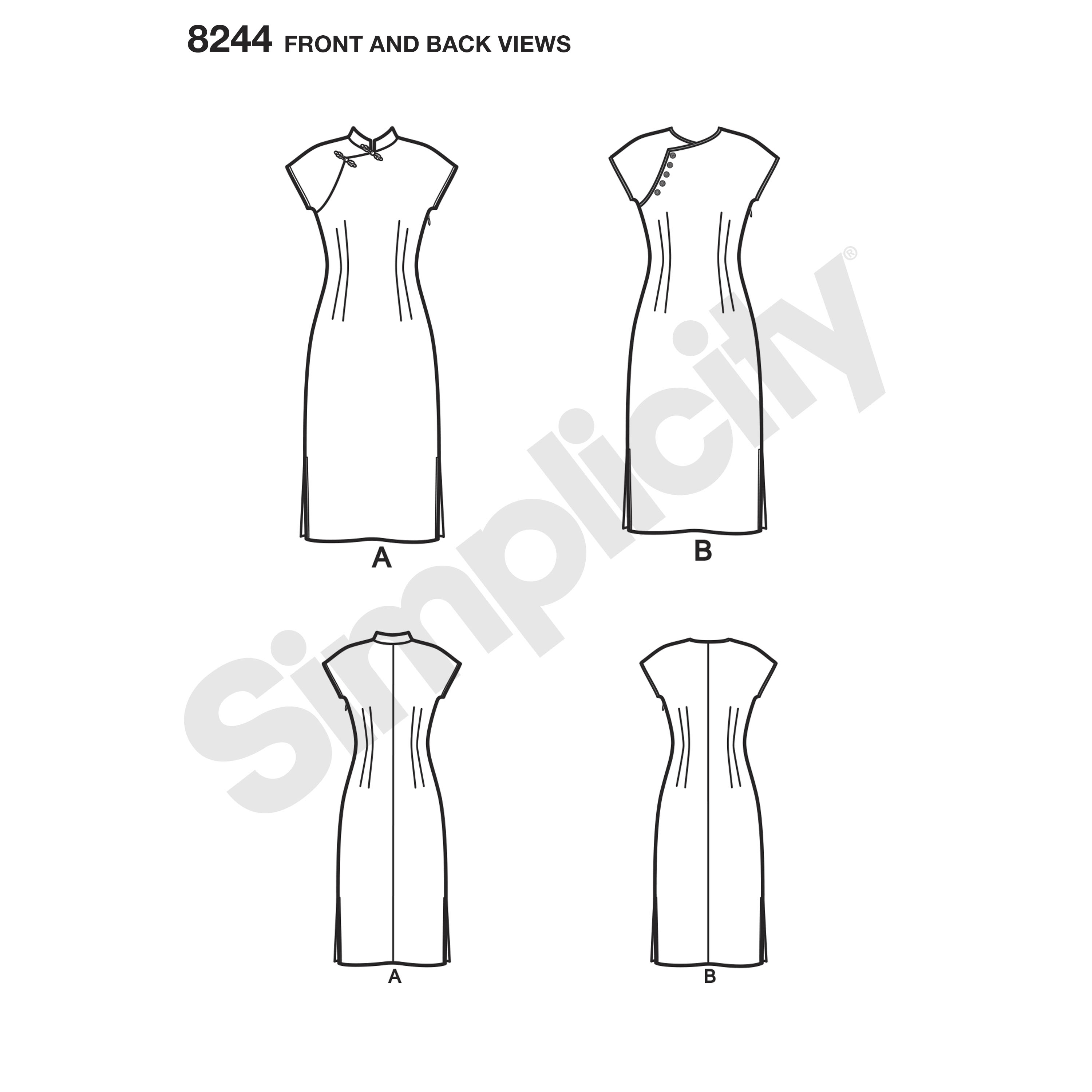 Simplicity Misses S Dress Sewing Pattern
