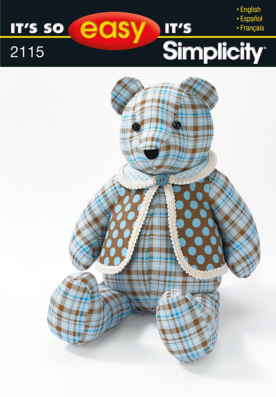 Stuffed Simplicity Pattern 5461 Bear
