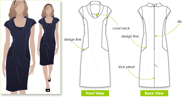 StyleArc Emma Dress Sewing Pattern