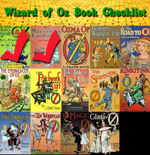 Oz books checklist